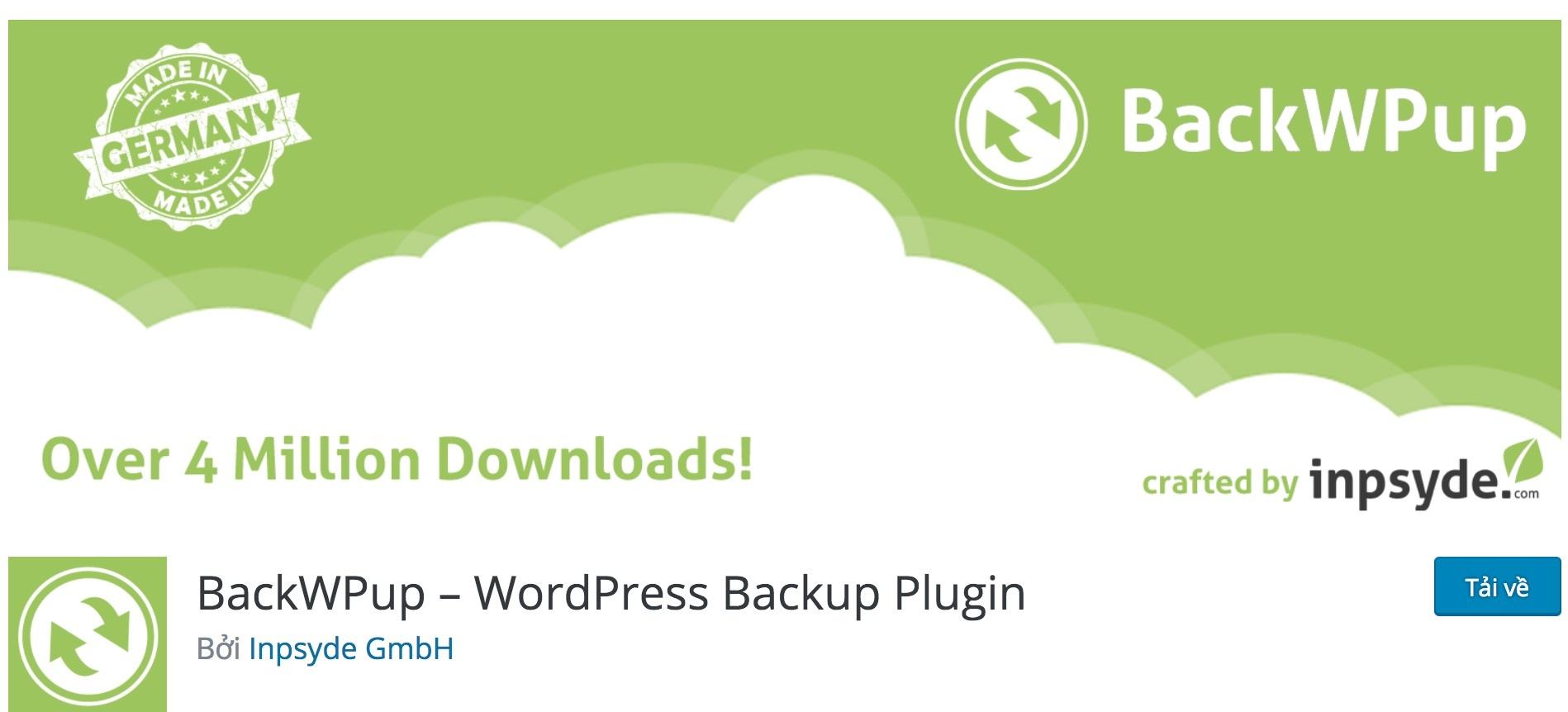 plugin backwpup