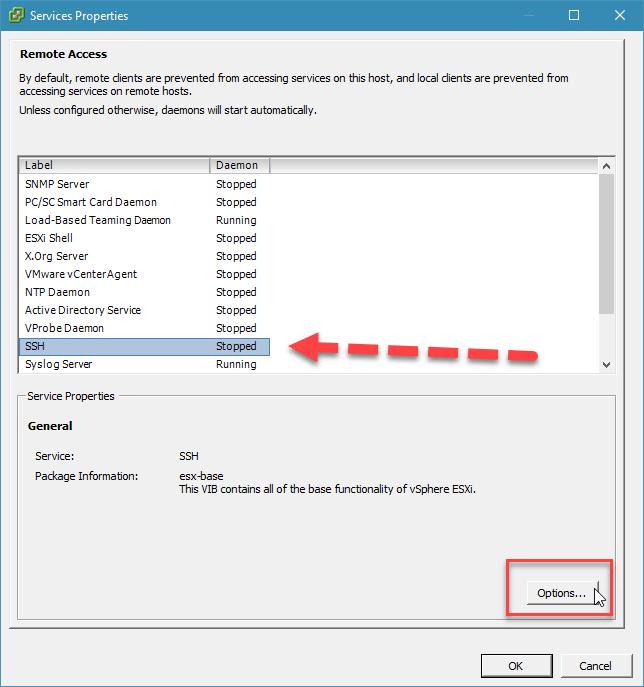 kích hoạt ssh trên esxi với vsphere desktop client - 4