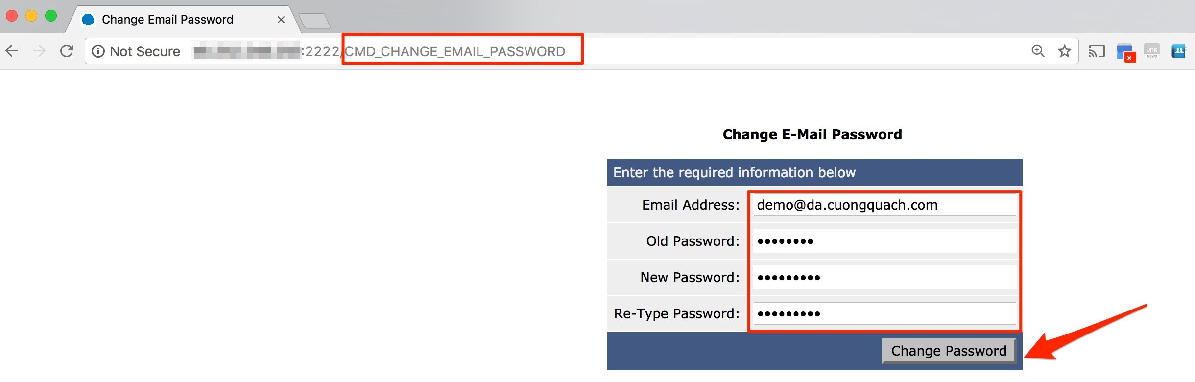 đổi mật khẩu email trên direct admin - 4