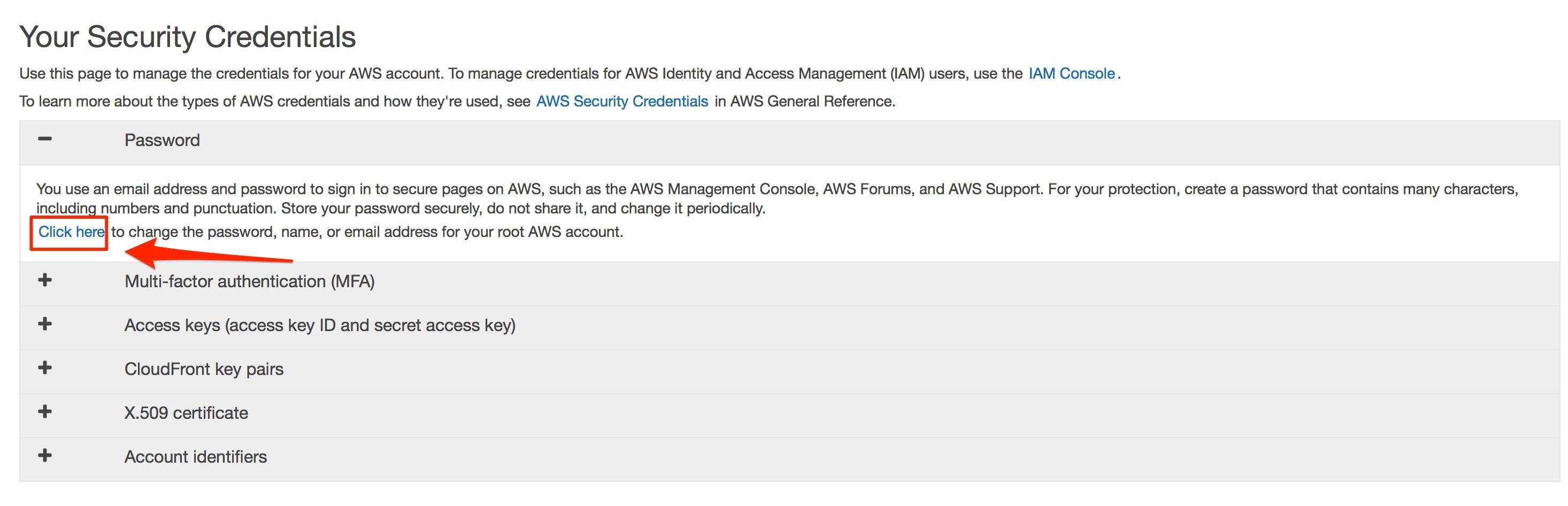aws management console - thay đổi mật khẩu aws account 2