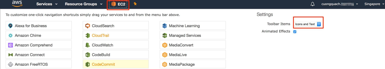 awsmc - thêm shortcut truy cập dịch vụ aws 3