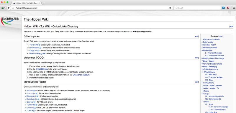 hidden wiki trên Deep Web