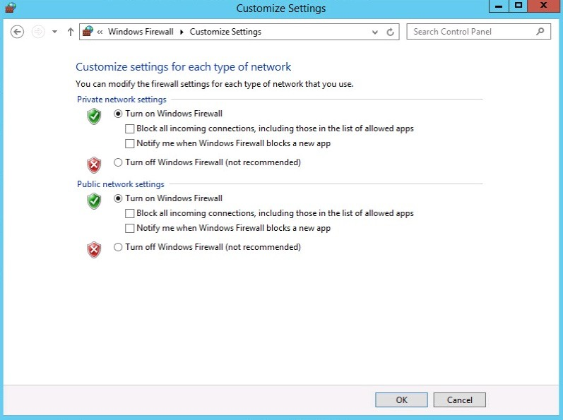 windows firewall profile