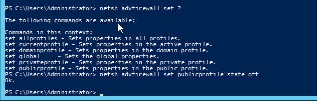 windows firewall powershell