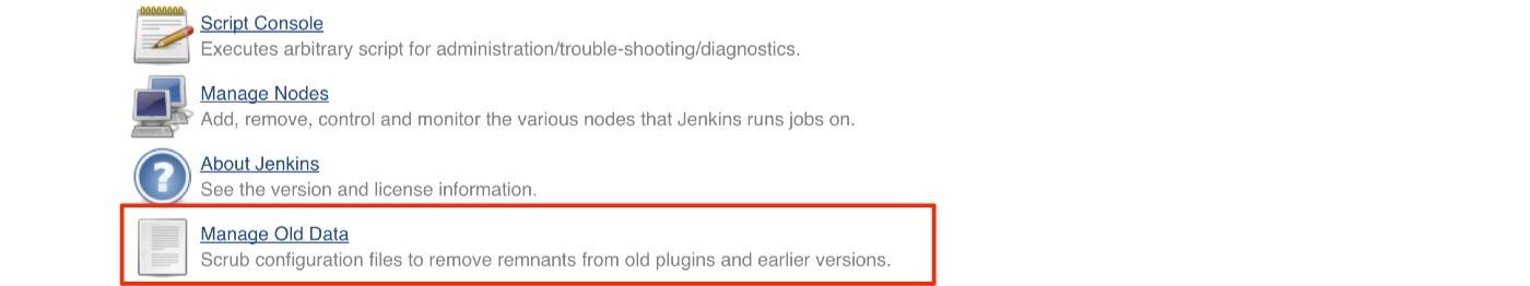 jenkins plugins manage old data