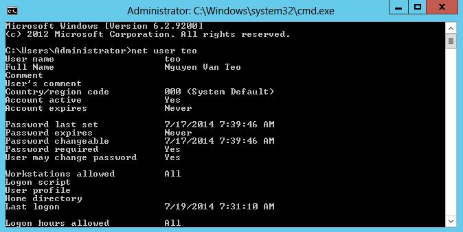 lệnh cmd user net
