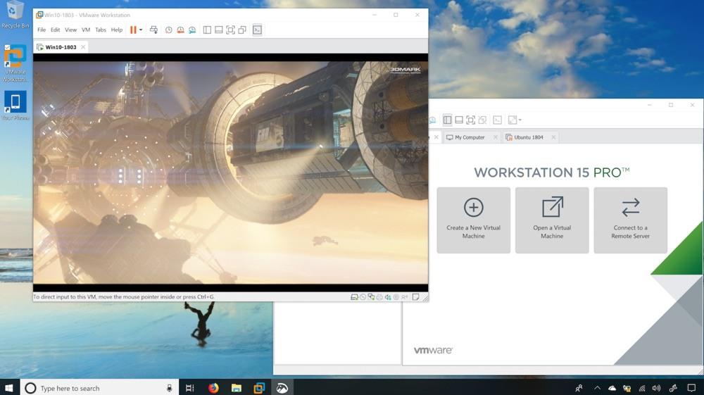 vmware workstation 15 pro ho tro 3d