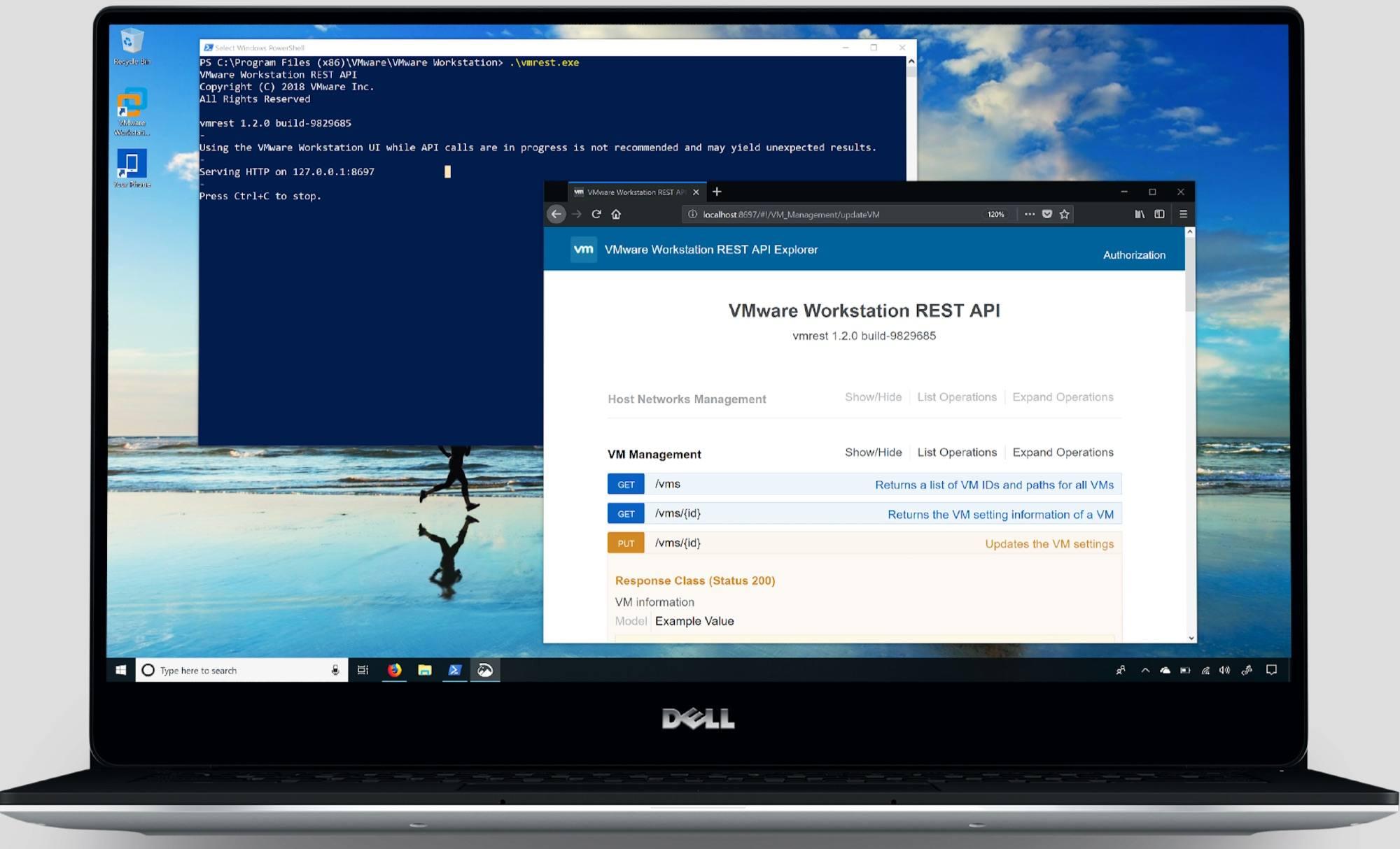 vmware workstation 15 hỗ trợ rest api