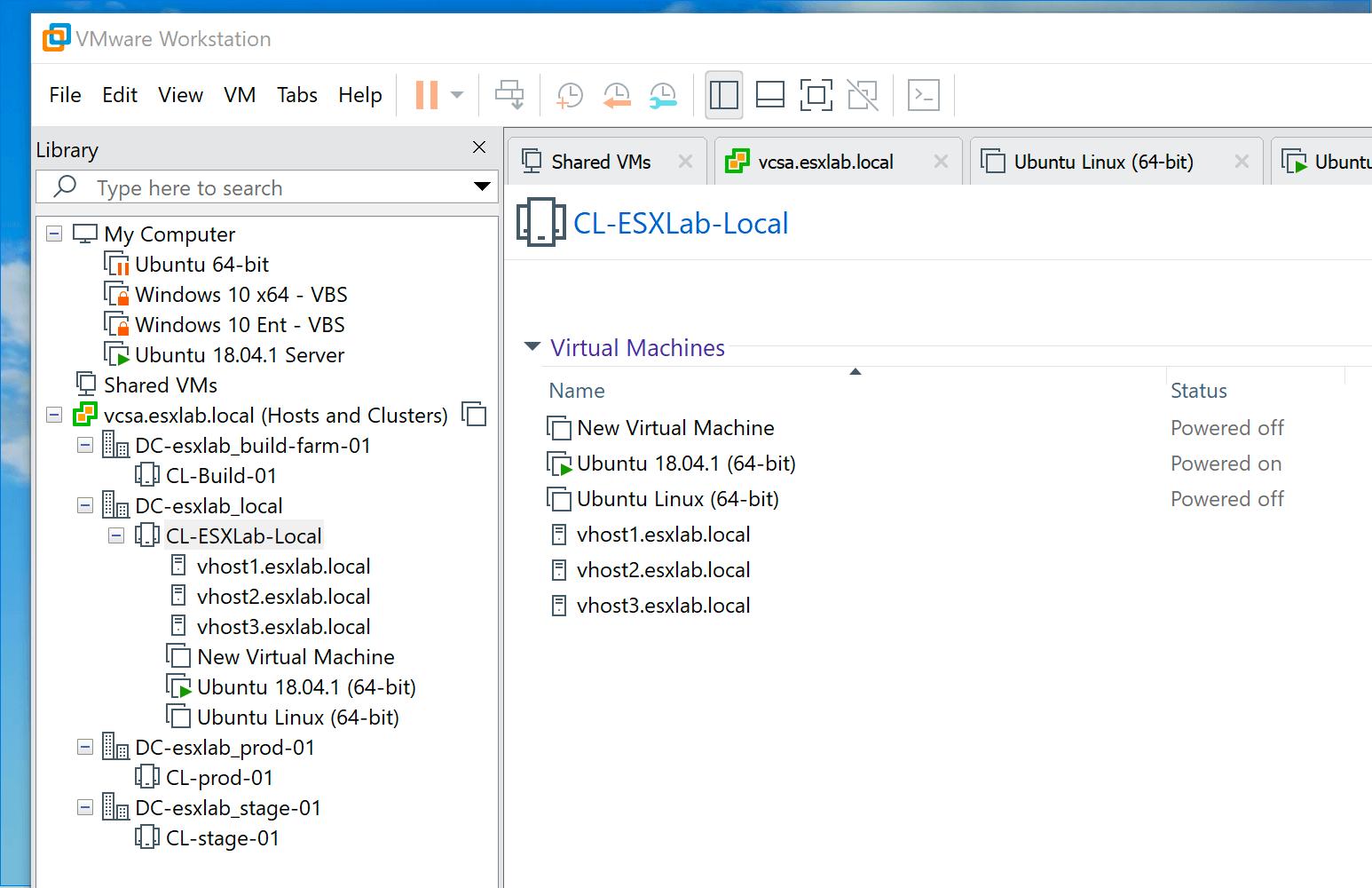 vmware workstation 15 hỗ trợ vsphere
