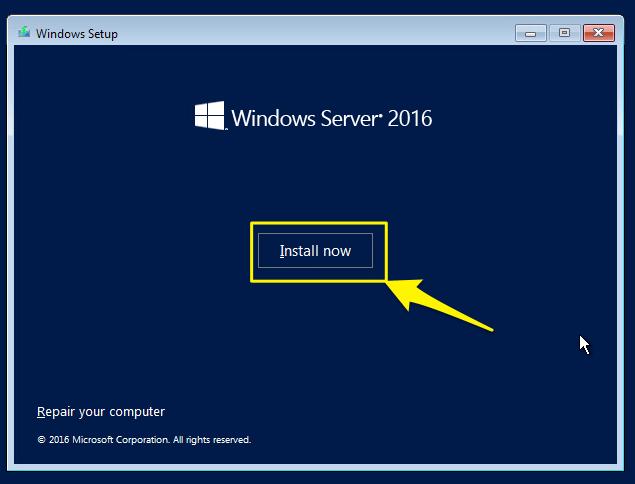 cài đặt windows server 2016 - 2