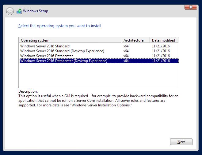 cài đặt windows server 2016 - 3