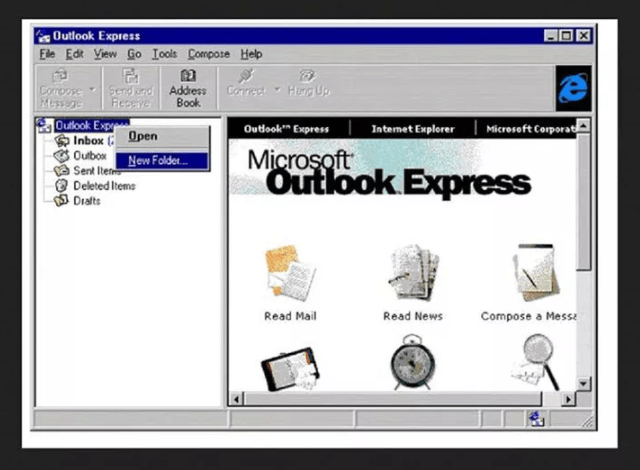 Sự phát triển của Microsoft Outlook