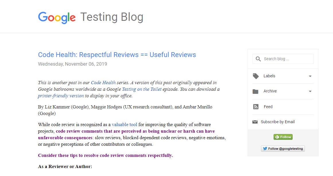 Google Testing Blog