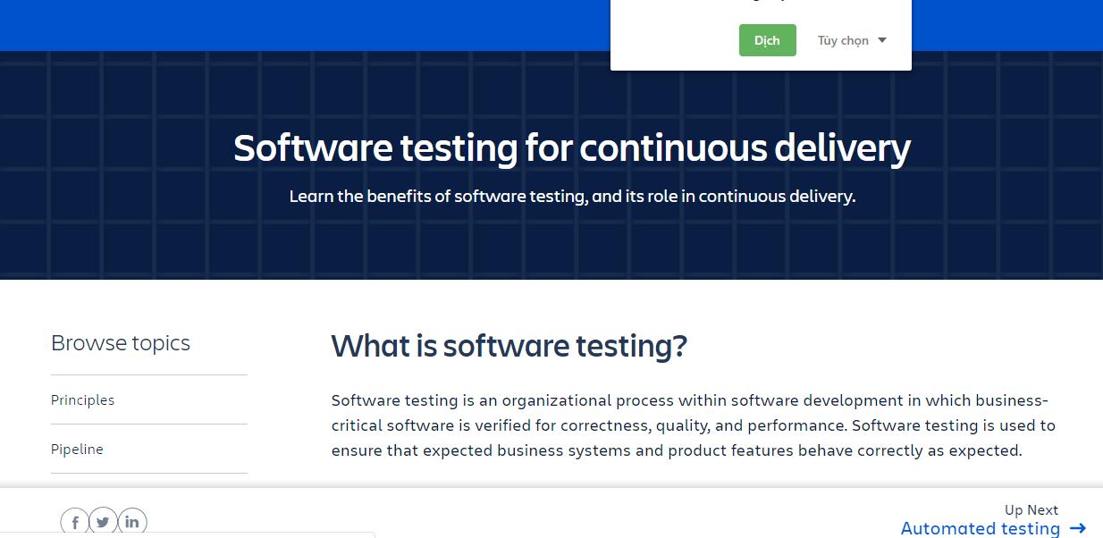 Atlassian Software Testing